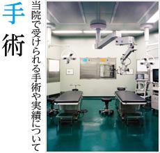 手術 当院で受けられる手術や実績について